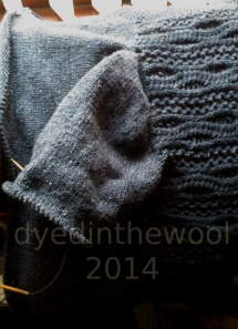 Re-Wrapped About Cardi - second sleeve in progress